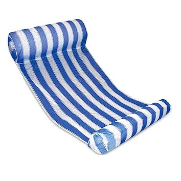 ONETOW New Premium Swimming Pool Floating Water Hammock Lounge Chair (Blue)