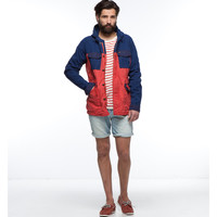 Coated Canvas Short Parka Jacket - Scotch & Soda