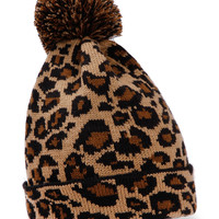 Wild at Heart Cheetah Leopoard Knit Beanie