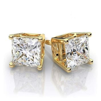STAINLESS STEEL Studs Earrings With Artificial Diamond Mens Wome f3cdc73d2