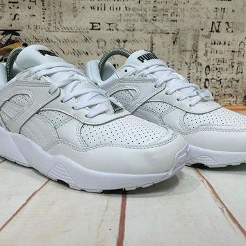 DCCKIJ2 Puma R698 Core Leather 360601-01 Running Sport Casual Shoes Sneaker White