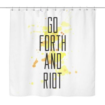 Riot Shower Curtain | The Inked Elephant