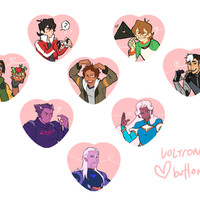 Voltron Heart Button from wwileyy!