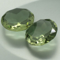 Green Amethyst: 36.42twt Round Shape Gemstone Pair Vermarine Lime Citrine Prasiolite Quartz Mineral Gem Match Set Silver Pair Earrings 20849