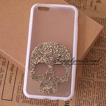 "Fashion Retro Skull case For iPhone 4/4S TPU Soft cell Phone case for iPhone 5/5S/5C or iPhone 6 (4.7"")/Plus phone cover"
