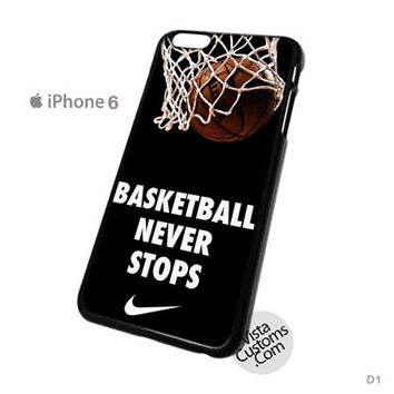 Nike Basketball Never Stop Phone Case For Apple,  iphone 4, 4S, 5, 5S, 5C, 6, 6 +, iPod, 4 / 5, iPad 3 / 4 / 5, Samsung, Galaxy, S3, S4, S5, S6, Note, HTC, HTC One, HTC One X, BlackBerry, Z10