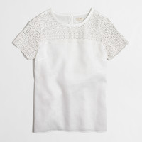FACTORY LACE-LINEN TEE