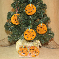 Chocolate Chip Cookie Ornament, Scented Cookie Ornament, Christmas Tree Ornament