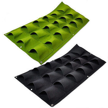 18 Pocket Vertical Greening Hang Wall Garden Seedling Plant Grow Bag Planter HU