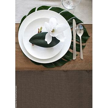 "Artificial Monstera Leaf Centerpiece Placemat - 18"" Long x 16.5"" Wide"