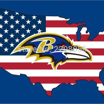 New style 3x5FT Baltimore Ravens flag with American banner flag 100D Polyester NFL flag in hot sell Baltimore Ravens flag