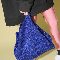 Glittery Open Top Tote Bag