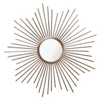 "Home ORB Sunburst Metal Mirror 23""  - 23""x3/5"""