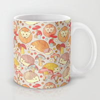 Woodland Hedgehogs - a pattern in soft neutrals  Mug by Perrin Le Feuvre