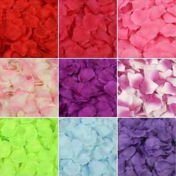 freeship 1000 pcs /a lot  41 colors Fashion  artificial  for party wedding decoration  Silk  Rose Petals Wedding Flowers Decor party = 1933119492