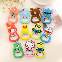 1 Pcs Cute Kawaii Cartoon Animal Funny Beer Bottle Opener Metal Bar Tool Kitchen Supplies
