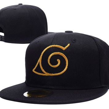 Naruto Konoha Logo Adjustable Snapback Caps Embroidery Hats