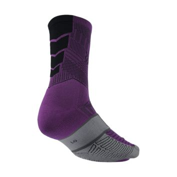 Nike Elite Match Fit FC247 Crew Soccer Socks Size Large (Purple)