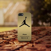 Gold Air Jordan Logo for iphone 4 5 5c 6 6plus, samsung S4 S5 case cover