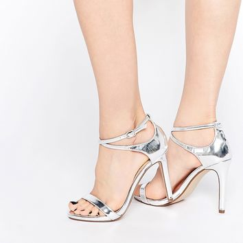 Call It Spring Staval Silver Heeled Strap Sandals