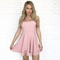 Cheers To That Skater Dress in Pink