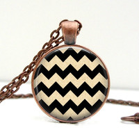 Chevron Art Necklace