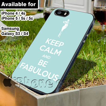 Audrey Hepburn quote Keep calm and be fabulous Rocky Mountain Bride WN for iPhone 4 / 4s / 5 / 5s / 5c case, Samsung Galaxy S3 / S4 case