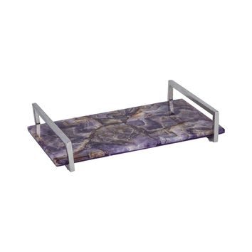 Amethyste Tray Amethyst,Polished Nickel