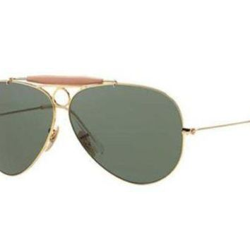 Kalete NEW Genuine Ray Ban RB3138 001 58 Arista Gold Mens Womens Sunglasses Glasses