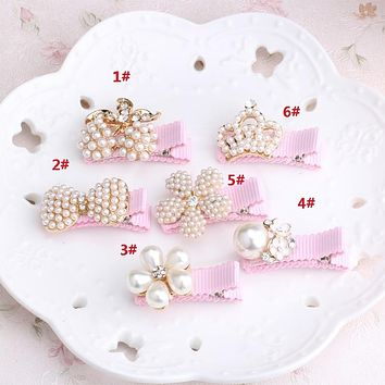 1 pcs Kid Floral Bowknot Hair Clip Children Crown Accessories Baby Flower Cute Hairpin Hairclips Barrettes Hairgrips Headwear