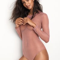 Dot Mesh Bodysuit - Victoria's Secret