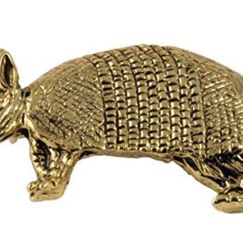 Creative Pewter Designs Pewter Armadillo Handcrafted Lapel Pin Brooch M180