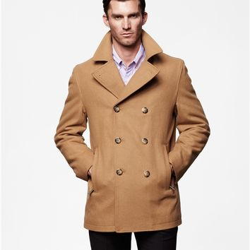 Houston Classic Double Breasted Wool Pea Coat