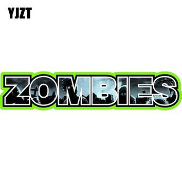 YJZT 19.8x4CM Fashion ZOMBIE Blood Bio Hazard Outbreak Response Decals Car-styling Retro-reflective Car Sticker C1-8050
