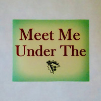 Meet Me Under The Mistletoe Holiday Print. Christmas Typography Print. 8x10.