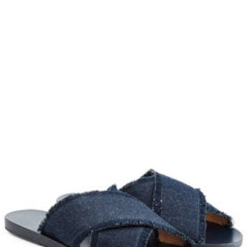 Denim Sandals - Ancient Greek Sandals | WOMEN | US STYLEBOP.com