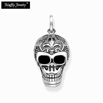 Skull Skeleton Punk Pendant Jewelry For Women Men 925 Sterling Silver