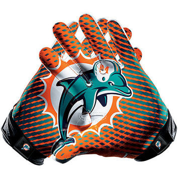Men's Nike Miami Dolphins Vapor Jet 2.0 Gloves