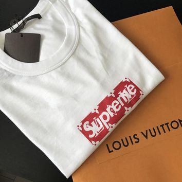 Supreme Box Logo Tee X Louis Vuitton