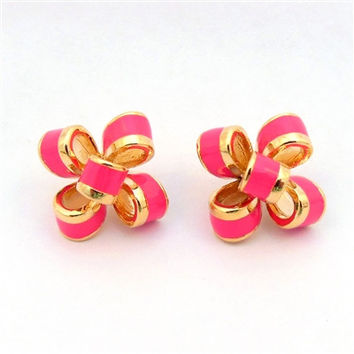 Ribbon Stud Earrings (2 colors)