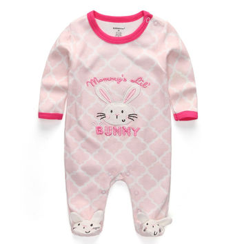Baby Girl Clothes 2017 New Newborn clothes baby cotton girls romper long-sleeve baby product , baby rompers