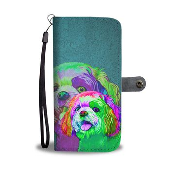 Shih Tzu Dog Art Print Wallet Case-Free Shipping