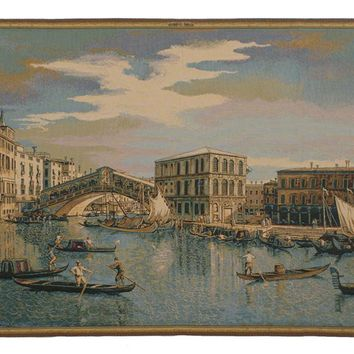 The Rialto Bridge Grand Canal  Italian Tapestry