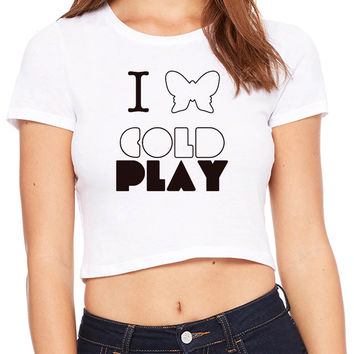 Coldplay Butterfly Crop T-shirt