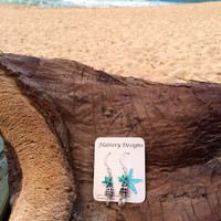Hebrew Cone and Starfish Earrings