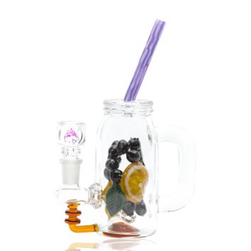 Empire Glassworks Blueberry Mini Rig Water Pipe