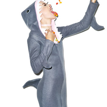 Jaws Of Life Hoodie Costume DARK GRAY