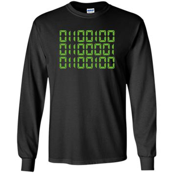 Men's Dad In Binary Code T-Shirt - Funny Father's Day Gift - Green