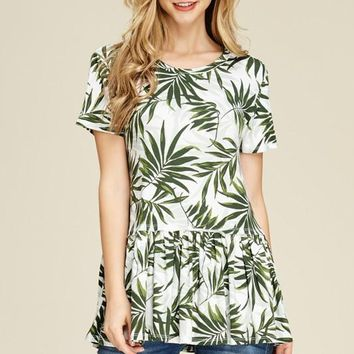 Tropical Ruffle Tunic