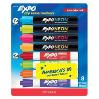 8ct Expo Assorted and Neon Dry Erase Markers
